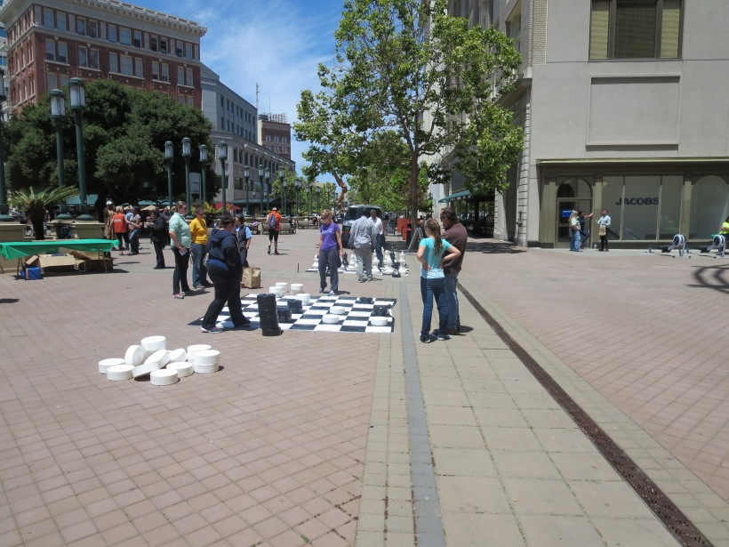 Checkers and Chess provided activity at the Adult Recess