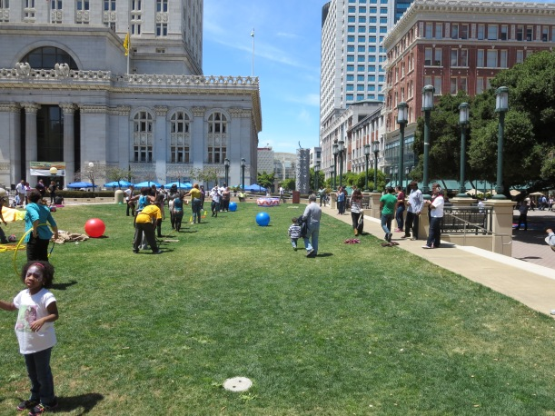 Adult Recess at Ogawa Plaza