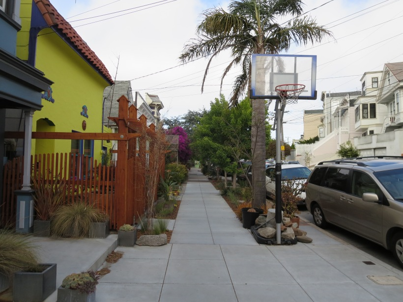 Though the Palm Tree does not frame overhead space, it still provides an excellent vertical form framing the sidewalk.