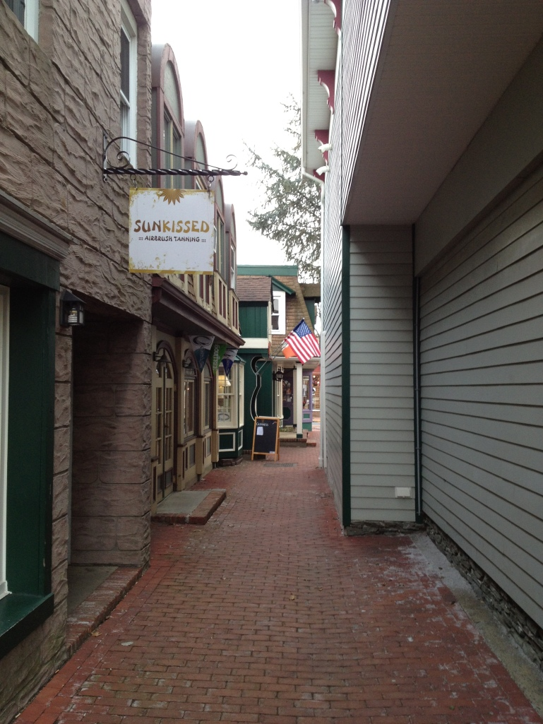 In most people's minds, this alley would not qualify as a street, but it is a valid means of pedestrian travel through an area and creates an incredibly interesting and enjoyable atmosphere. Pedestrian alleys should be used as much as is possible and be considered part of the pedestrian transportation grid.