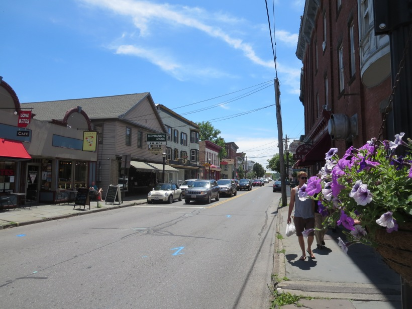 Downtown Saugerties has many shops and restaurants on a peaceful street.