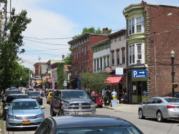 Downtown Saugerties on a busy Saturday afternoon.
