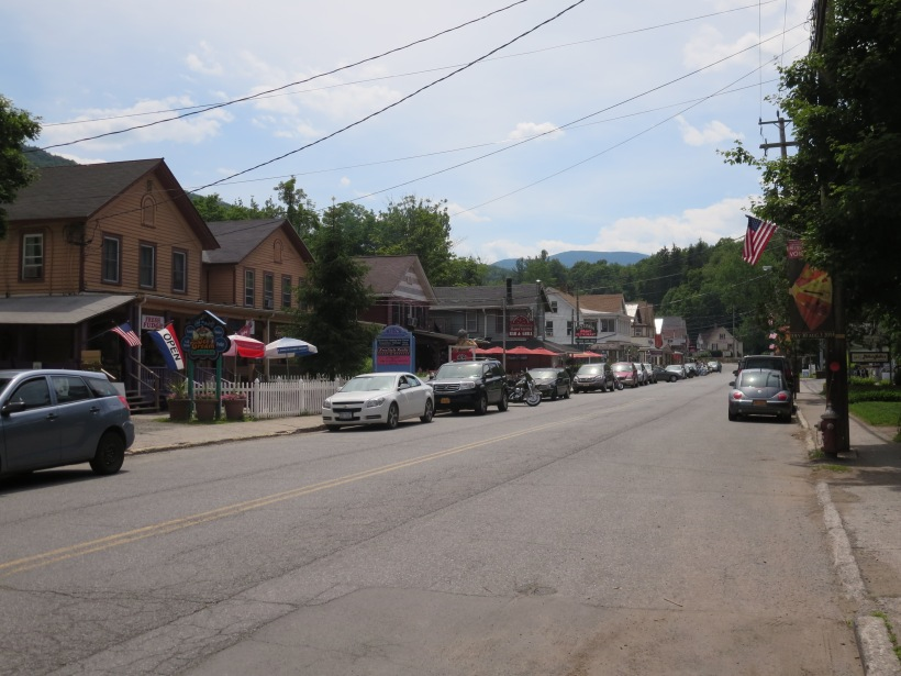 Main Street in Phoenicia, NY is lined with shops and restaurants.