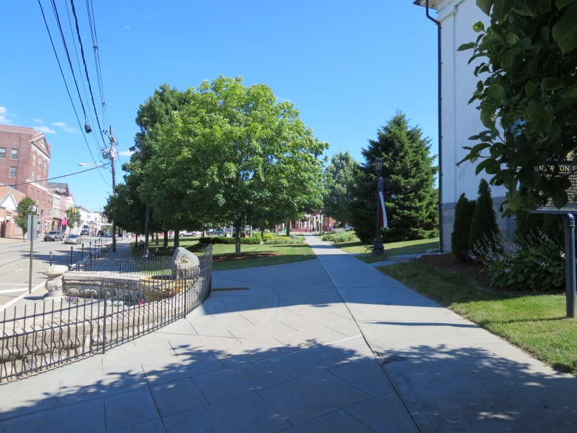 Newton, NJ has a great central green from the colonial era, but the expanse of pavement and traffic surrounding it make this green underutilized.