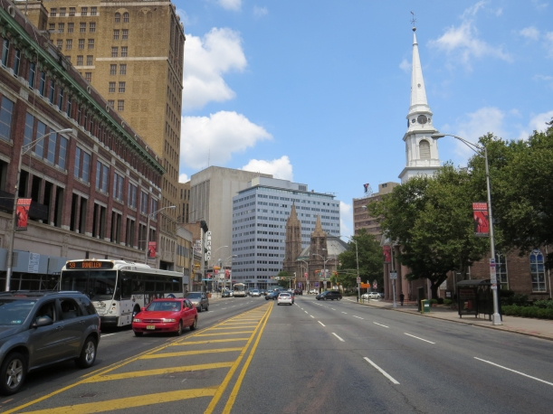 Broad Street near Military Park looking north.
