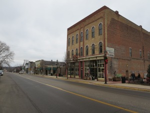 Downtown Newaygo has a decently intact commercial strip.