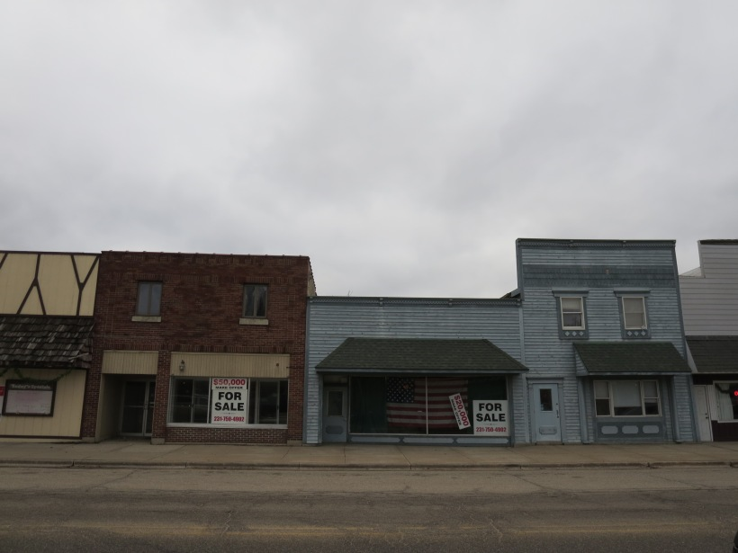 Downtown Hesperia showing its rural decline.