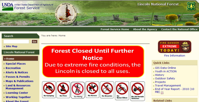 Forest Closed